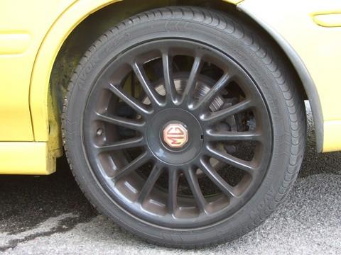 One grubby wheel.
